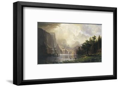 Among the Sierra Nevada, California, 1868-Albert Bierstadt-Framed Art Print