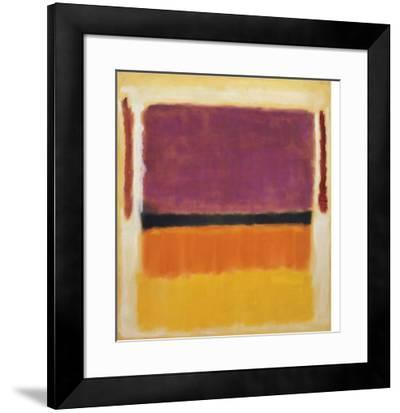 Untitled (Violet, Black, Orange, Yellow on White and Red), 1949-Mark Rothko-Framed Art Print