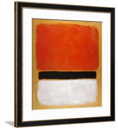 Untitled (Red, Black, White on Yellow), 1955-Mark Rothko-Framed Art Print