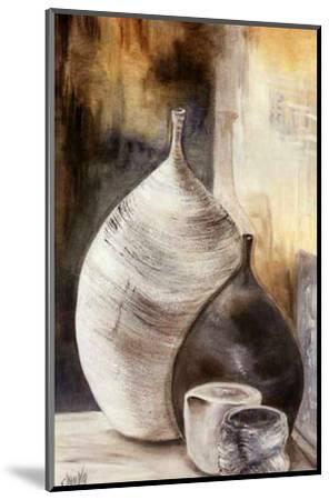 Vases Gris-Clauva-Mounted Art Print