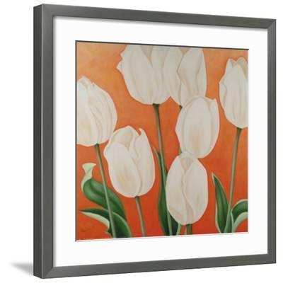 White Tulips-Erik De Andr?-Framed Art Print