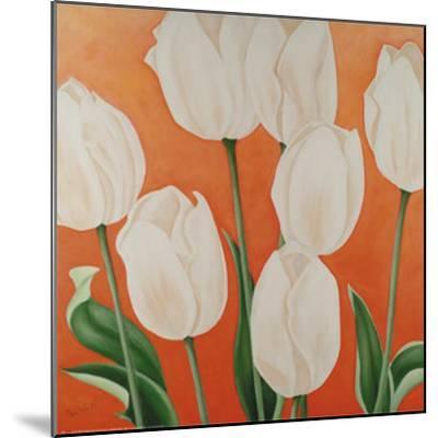 White Tulips-Erik De Andr?-Mounted Art Print