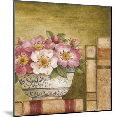 Potted Flowers with Books IV-Eric Barjot-Mounted Art Print