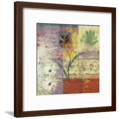 Floral with Cursive I-Pierre Fortin-Framed Art Print