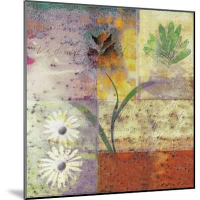 Floral with Cursive I-Pierre Fortin-Mounted Art Print