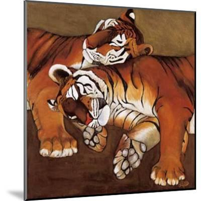 Sleeping Tigers-LISA BENOUDIZ-Mounted Art Print