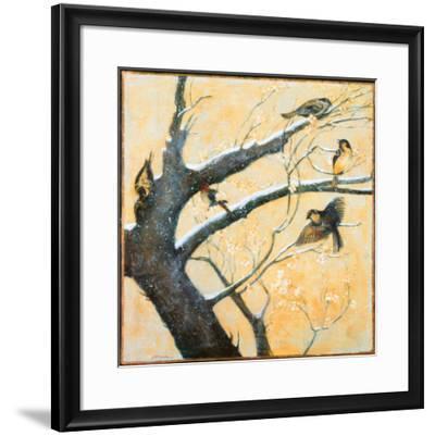 Winter Birds-Jill Barton-Framed Art Print
