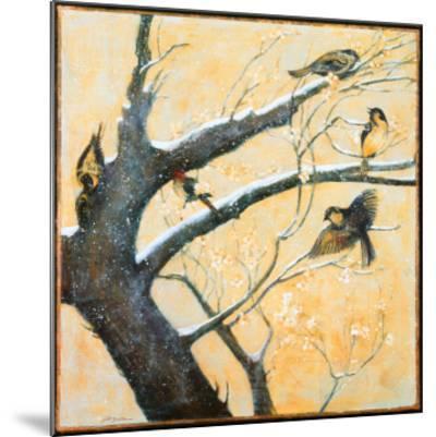 Winter Birds-Jill Barton-Mounted Art Print