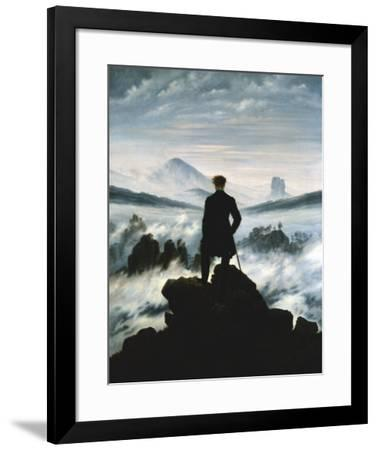 The Wanderer Above the Sea of Fog, 1818-Caspar David Friedrich-Framed Art Print