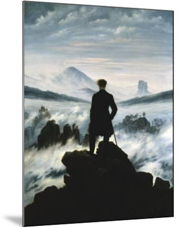 The Wanderer Above the Sea of Fog, 1818-Caspar David Friedrich-Mounted Art Print