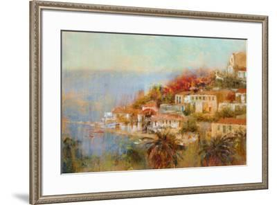Picturesque Cove-Michael Longo-Framed Art Print