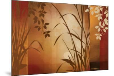 Flaxen Silhouette-Edward Aparicio-Mounted Art Print