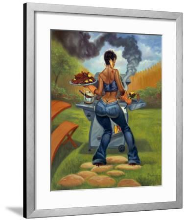 BBQ-Sterling Brown-Framed Art Print