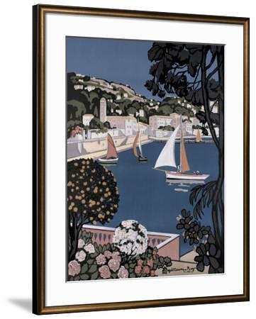 Cote d'Azur Bateaux-Guillaume Roger-Framed Giclee Print