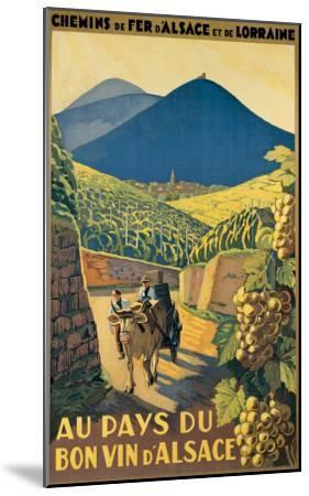 Au Pays du Bon Vin d'Alsace--Mounted Giclee Print