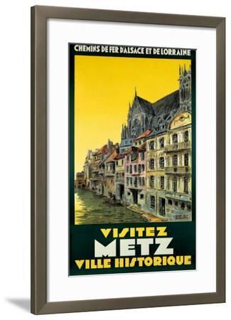Visitez Metz-H^ De Renancourt-Framed Giclee Print