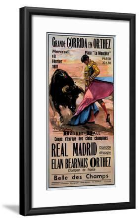 Grande Corrida en Orthez--Framed Giclee Print