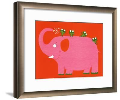 The Elephant and the Frog-Nathalie Choux-Framed Art Print