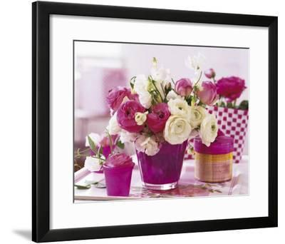 Pink Table--Framed Art Print