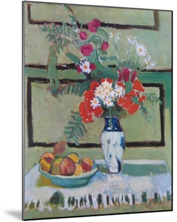 Still Life, Flowers and Fruit-Henri Matisse-Mounted Art Print