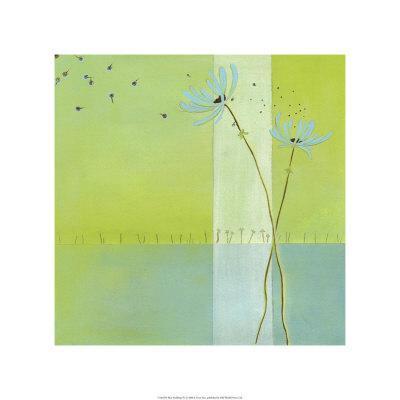 Blue Seedlings IV-Erica J^ Vess-Framed Limited Edition
