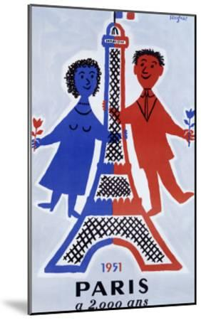 1951, Paris a 2.000 Ans-Raymond Savignac-Mounted Giclee Print