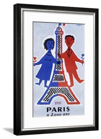1951, Paris a 2.000 Ans-Raymond Savignac-Framed Giclee Print