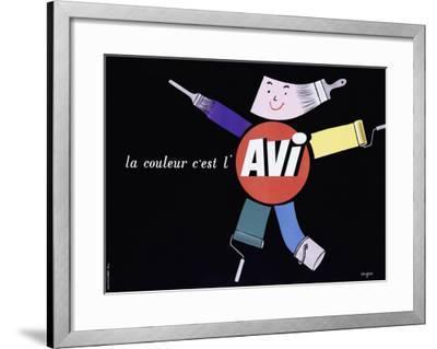 La Couleur c'est l'AVI-Raymond Savignac-Framed Giclee Print