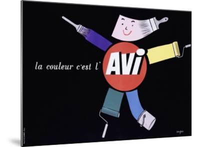 La Couleur c'est l'AVI-Raymond Savignac-Mounted Giclee Print