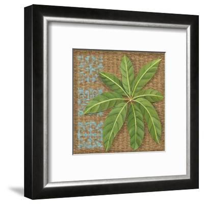 Block Print Palm VI-Chariklia Zarris-Framed Art Print