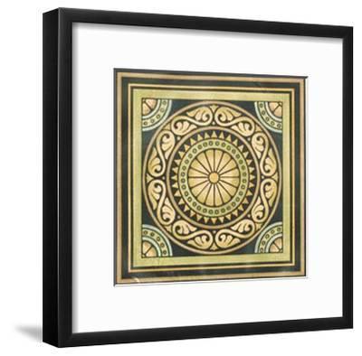 Crackled Motif on Black I--Framed Premium Giclee Print