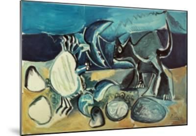 Cat and Crab on the Beach, 1965-Pablo Picasso-Mounted Art Print