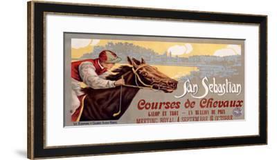 San Sebastian / Courses De Chevaux--Framed Giclee Print
