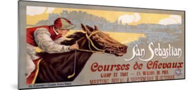 San Sebastian / Courses De Chevaux--Mounted Giclee Print