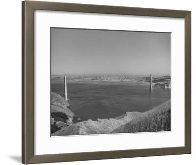 1935 Golden Gate Bridge Towers 1 and 2 Poster-Photo Archive Underwood-Framed Giclee Print