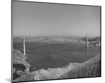 1935 Golden Gate Bridge Towers 1 and 2 Poster-Photo Archive Underwood-Mounted Giclee Print