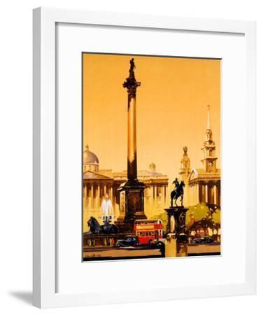 London, Trafalgar Square, 1948-1965-Claude Buckle-Framed Giclee Print