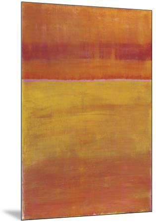 Warm Horizontal Abstract-Marie C^ Wattin-Mounted Art Print
