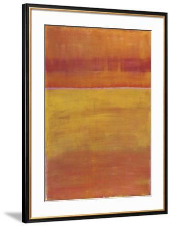 Warm Horizontal Abstract-Marie C^ Wattin-Framed Art Print