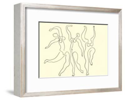 Trois Danseuses, c.1924-Pablo Picasso-Framed Serigraph