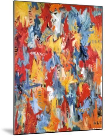 False Start, 1959-Jasper Johns-Mounted Art Print