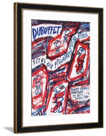 Sites aux Figurines Psycho-Sites-Jean Dubuffet-Framed Collectable Print