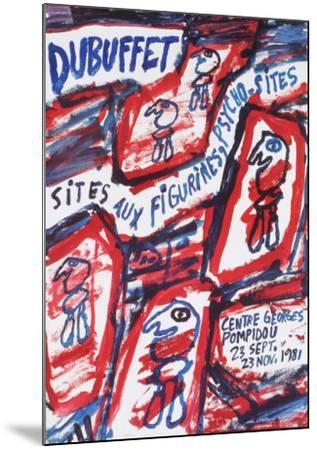 Sites aux Figurines Psycho-Sites-Jean Dubuffet-Mounted Collectable Print