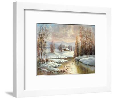 Winter Twilight-Helmut Glassl-Framed Art Print