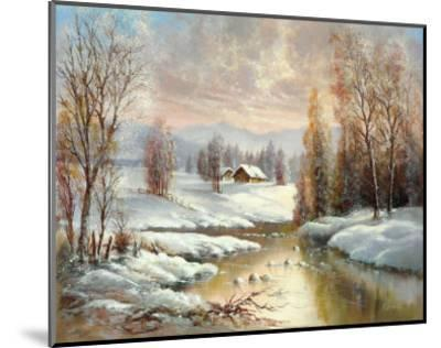 Winter Twilight-Helmut Glassl-Mounted Art Print