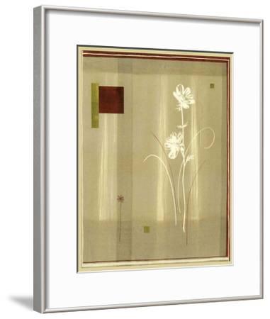 Flowers and Squares I--Framed Art Print