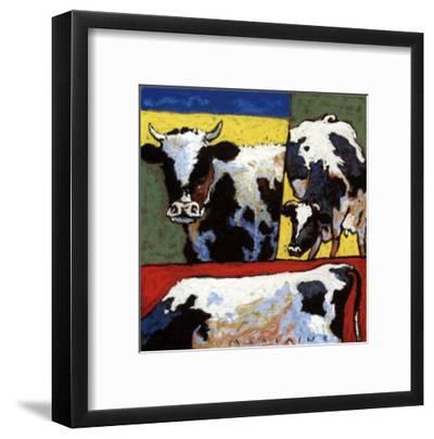 Les Trois Vaches-Morlaine-Framed Art Print