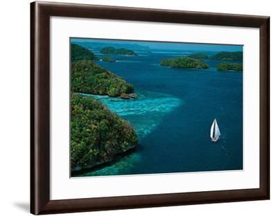 Sailing Palau-Jean-Luc Allegre-Framed Art Print