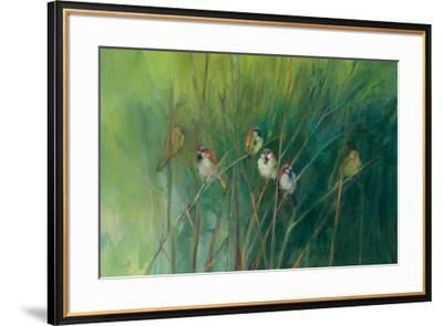 Summer Sparrows-Ellen Granter-Framed Art Print