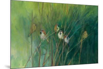 Summer Sparrows-Ellen Granter-Mounted Art Print